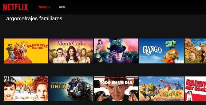 Cine familiar en Netflix y cine infantil