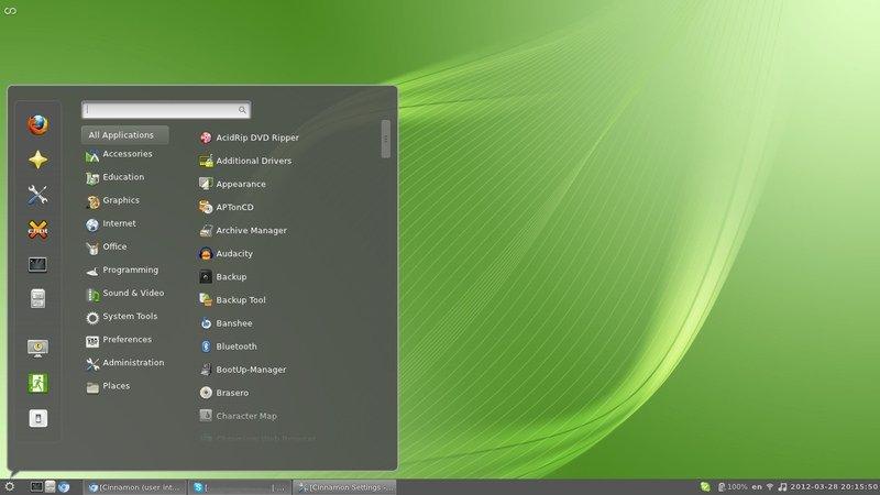 Cinnamon Linux Desktop