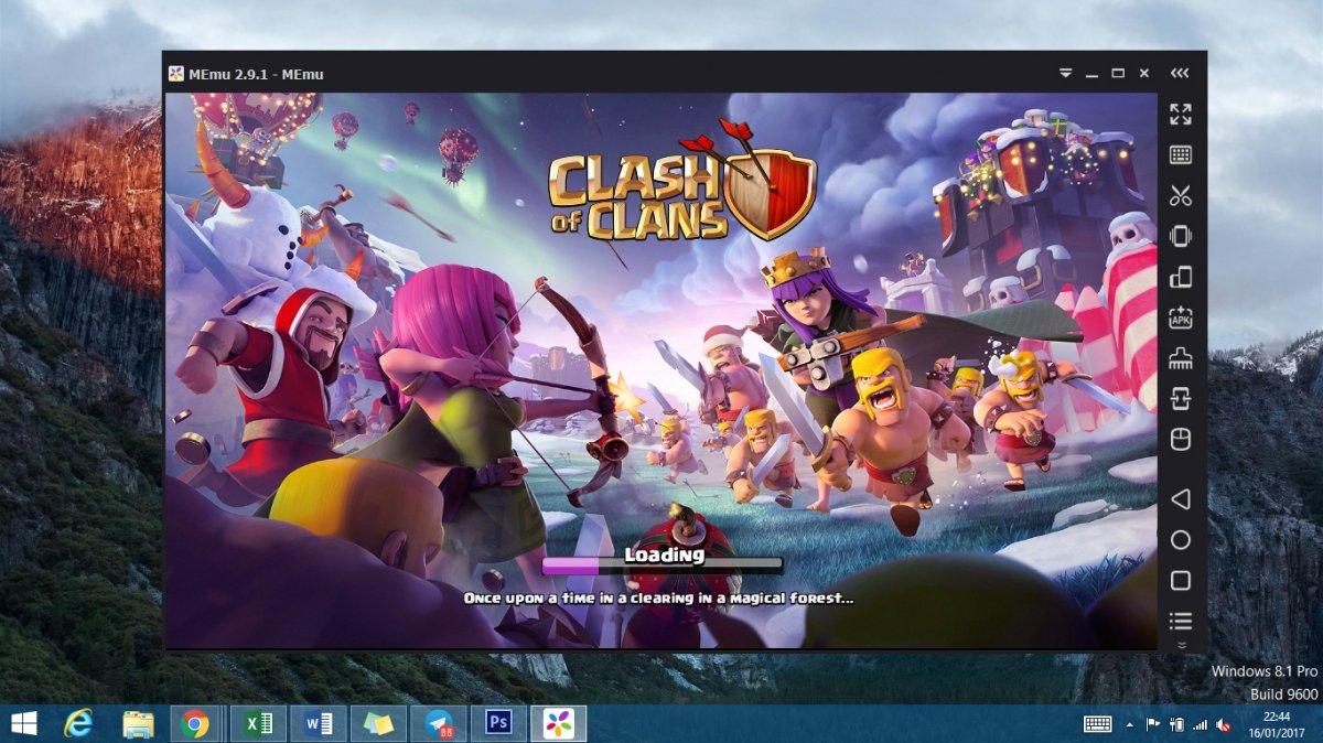 Clash of Clans ejecutado en un PC