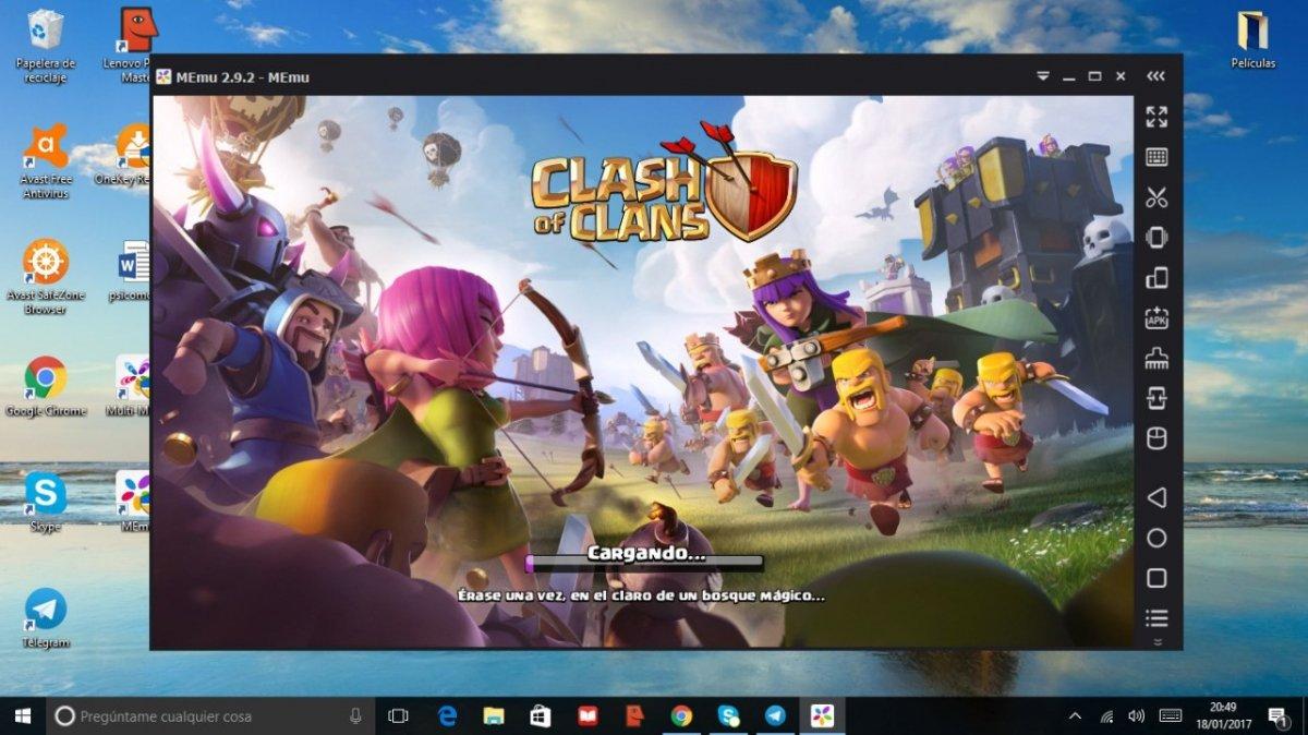 Clash of Clans ejecutándose en MEmu para Windows