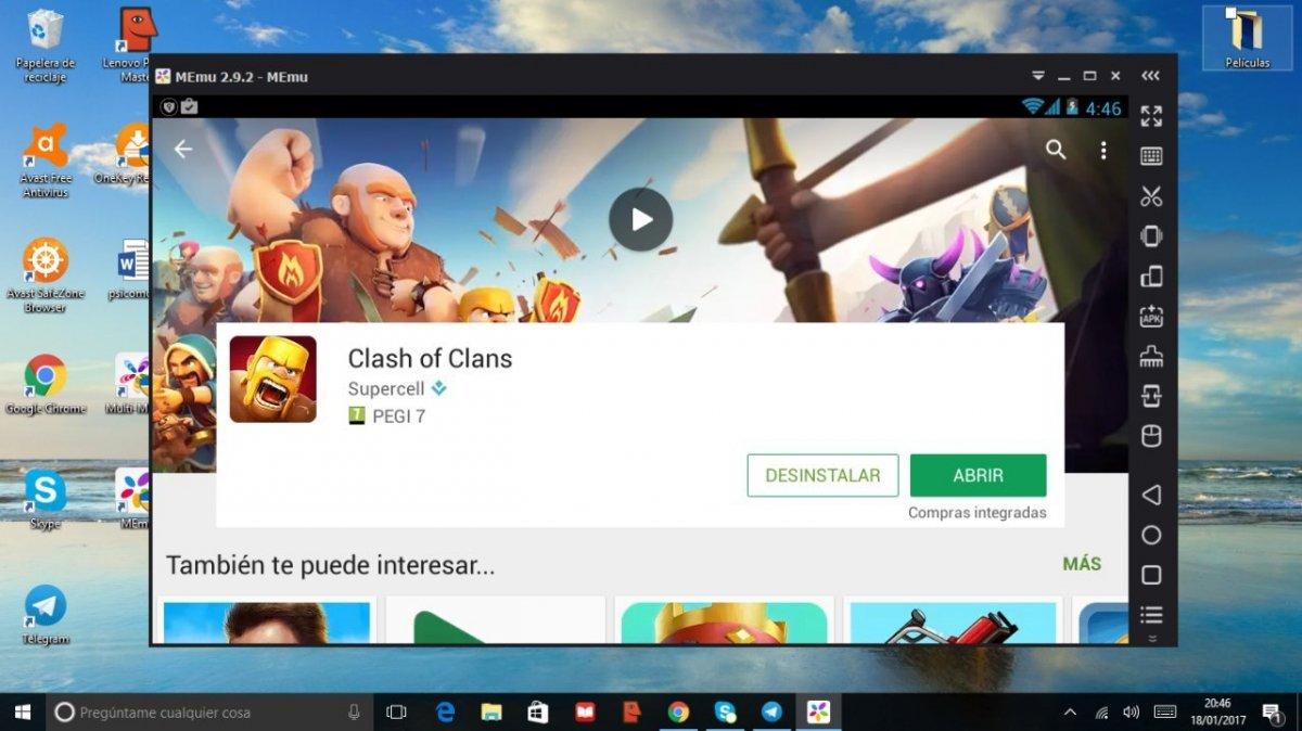 Clash of Clans para Android - MEmu para Windows