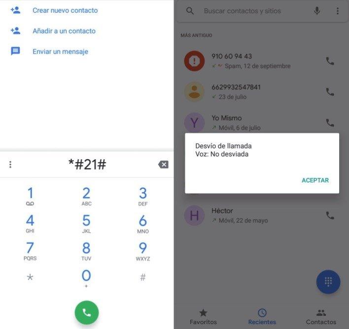 Código para desactivar el desvío de llamadas en Android
