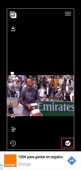 Colocación del GIF como fondo de pantalla