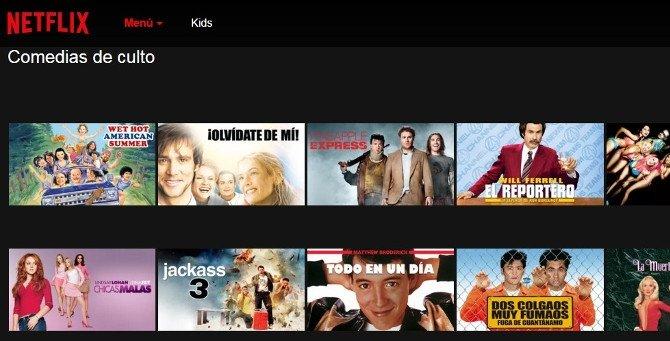 Comedias de culto en Netflix (en la categoría de comedias)