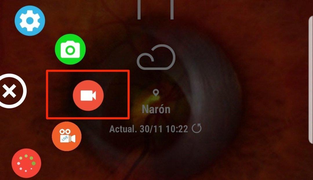 Comenzar la captura de pantalla en vídeo