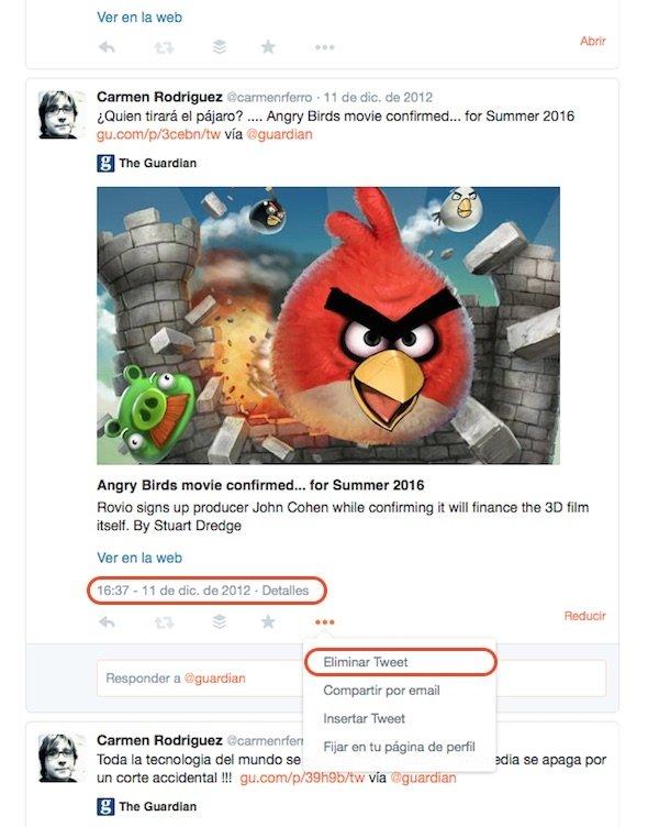 Cómo borrar tuits que ahora pueden ser embarazosos - imagen 2