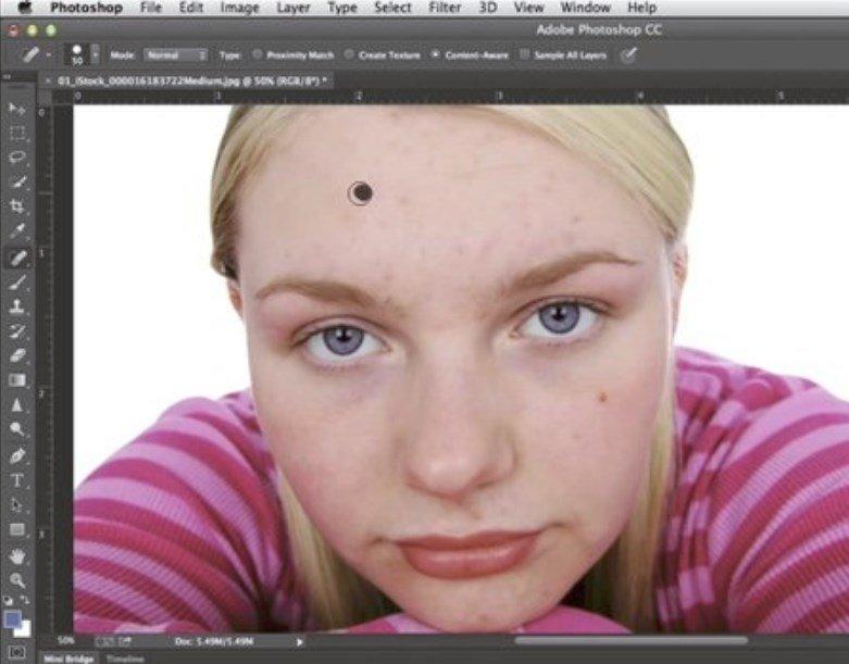 Cómo eliminar manchas de un retrato
