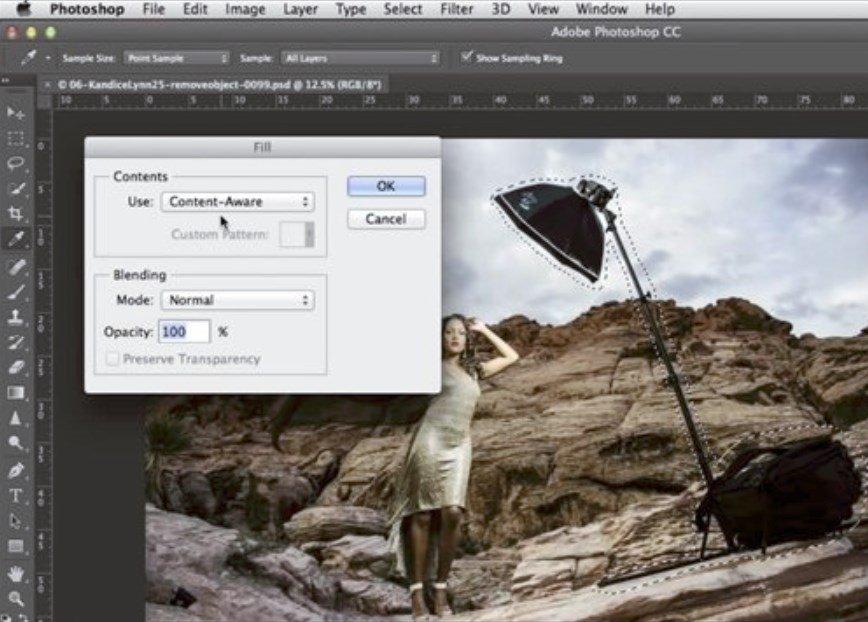 Cómo eliminar un objeto de una imagen en Photoshop CC