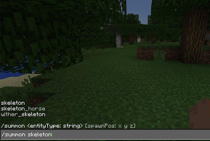 Cómo invocar un esqueleto en Minecraft con los trucos