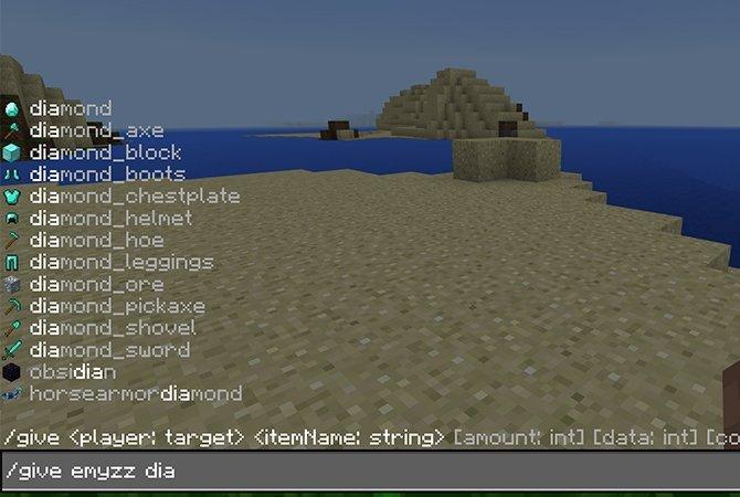 Cómo recibir objetos con trucos en Minecraft