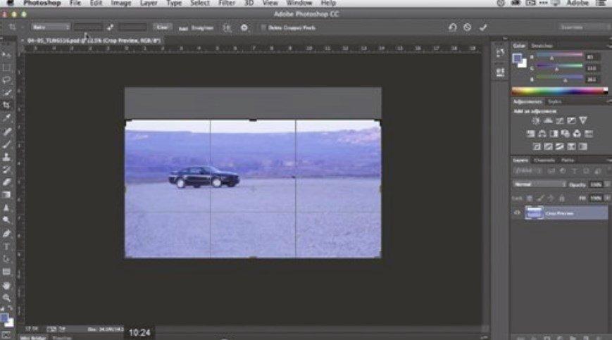Cómo recortar imágenes en Photoshop CC