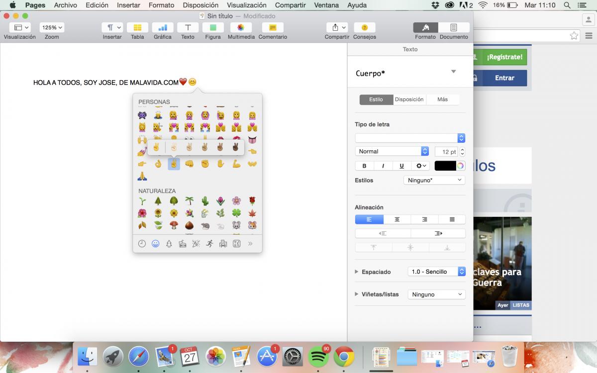 Cómo utilizar los emojis en un Mac