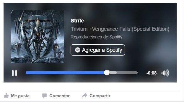 Compartir música desde Facebook