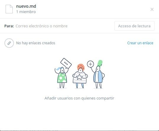 Compartir un archivo con Dropbox