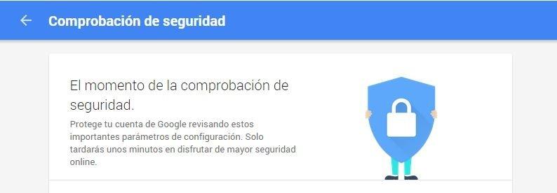 Comprobación de seguridad de Google Drive