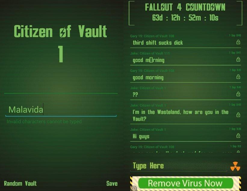 Comprueba cuánto falta hasta el lanzamiento de Fallout 4 t chatea con otros jugadores