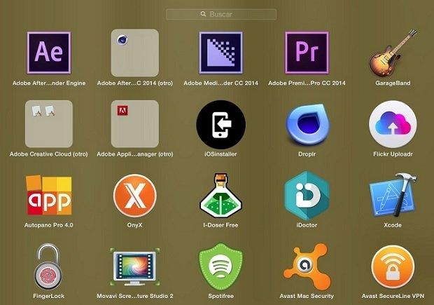 Con el paso del tiempo, el Launchpad acaba siendo de todo menos organizado