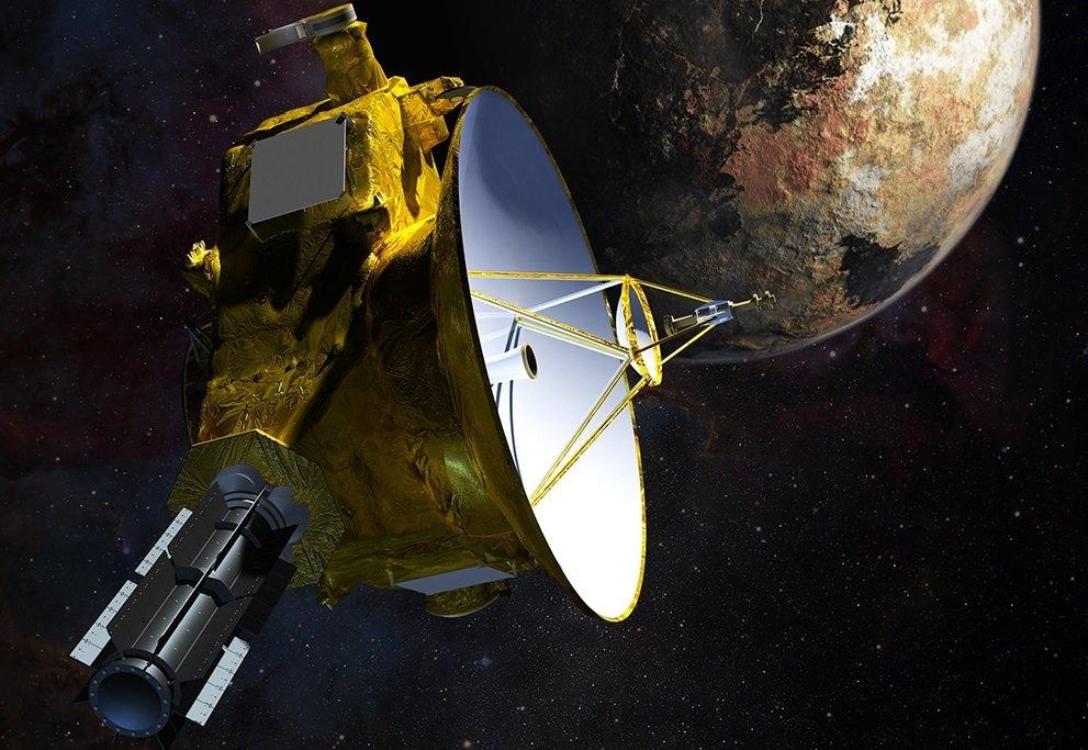 Concepto de la sonda New Horizons en Plutón, donde también ha llegado Katy Perry