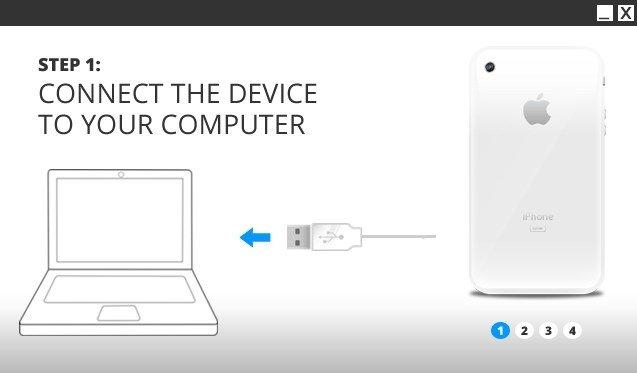 Conecta tu iPhone al ordenador para que funcione iOS Installer