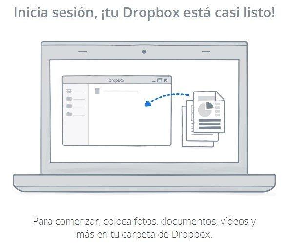 Configuración inicial de Dropbox en Windows