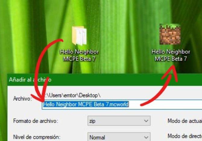 Conseguir un ejecutable reconocible por Minecraft Pocket Edition y Windows 10 Edition