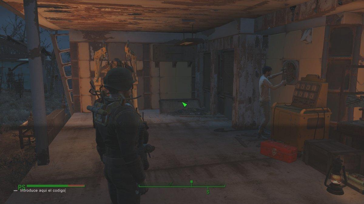 Consola de comandos abierta en Fallout 4