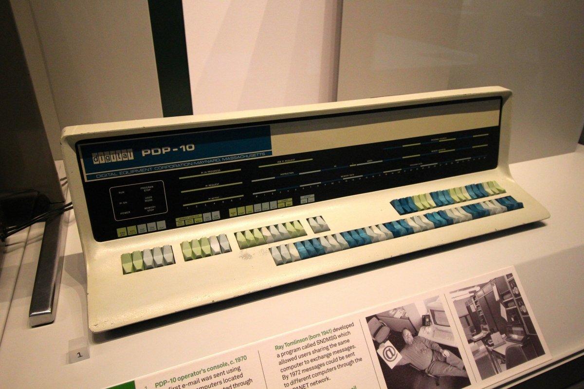 Consola de una máquina PDP-10
