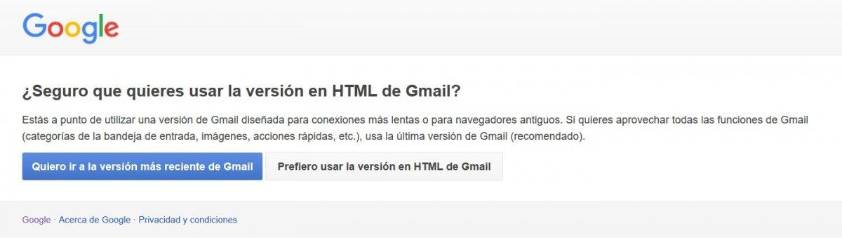 Consulta tu correo en la versión HTML para consumir menos datos navegando