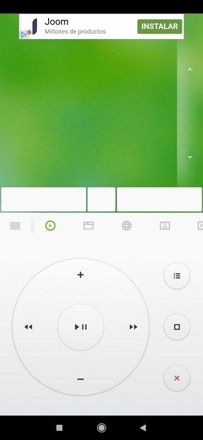 Controles multimedia en Remote Mouse