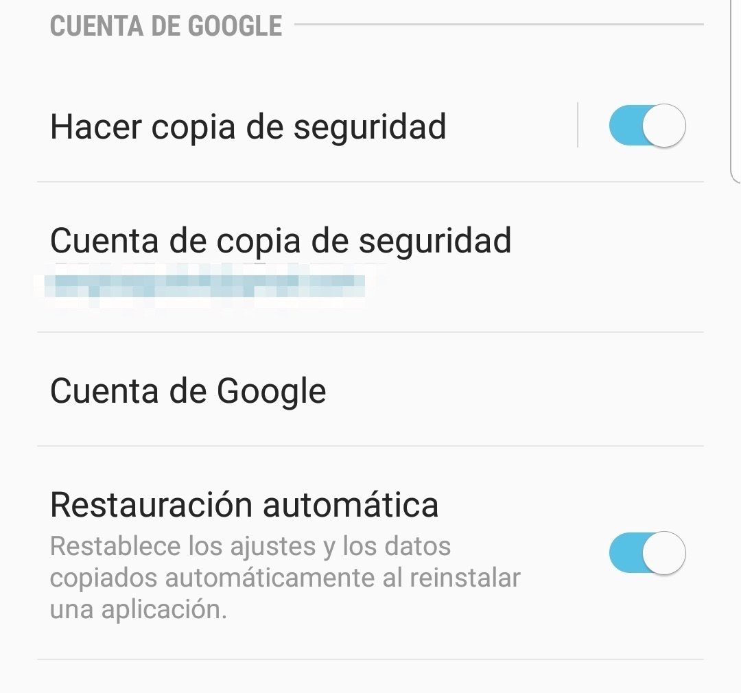 Copia de seguridad de Google