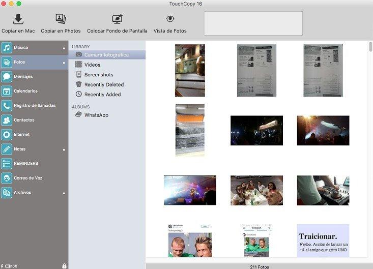 Copia tu carrete de fotos y vídeos al ordenador