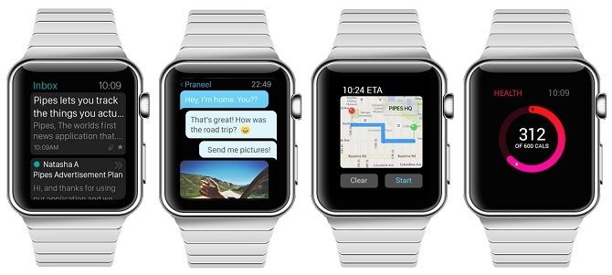 Correo, chat, mapas y salud en Apple Watch