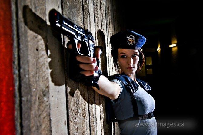 Cosplay de Jill Valentine, una de las protagonistas del Resident Evil original