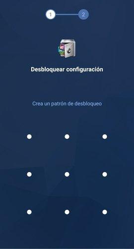 Creación de un patrón de desbloqueo en AppLock