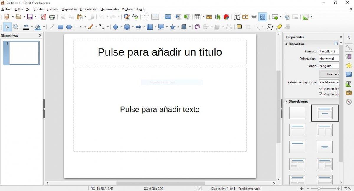Creación de una presentación en LibreOffice