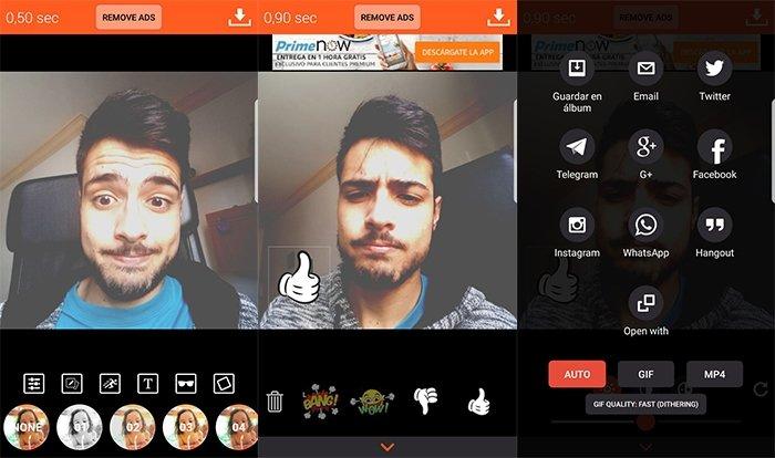 Crear GIFs con Gif me! Camera en Android