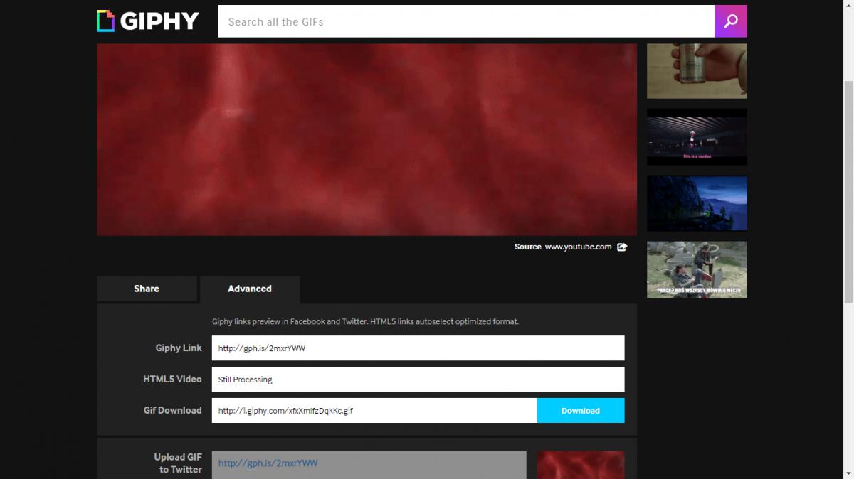 Crear GIFs desde YouTube con GIPHY