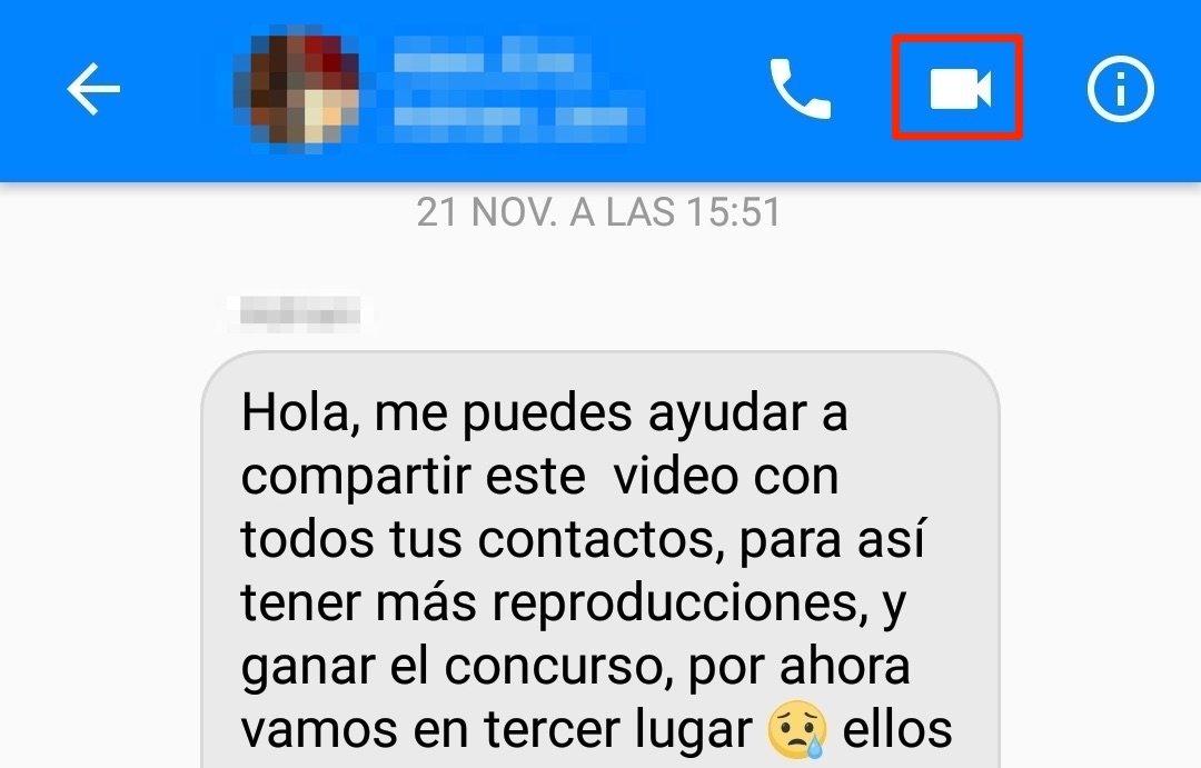 Crear una videollamada grupal en Messenger
