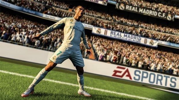 Cristiano Ronaldo celebra un gol en FIFA 18