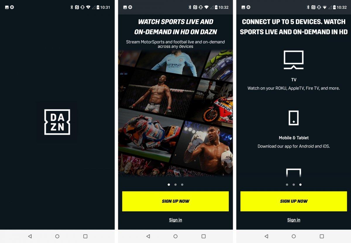 Dazn es una plataforma de deporte en directo por streaming