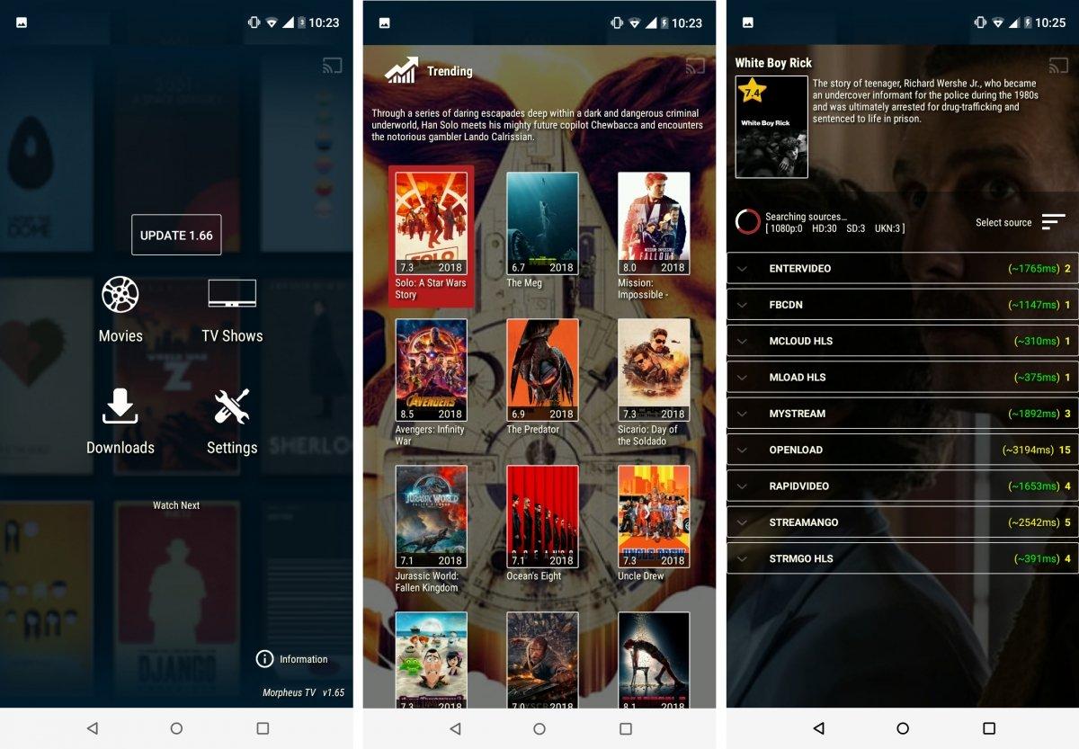 De momento Morpheus TV está operativo en Android
