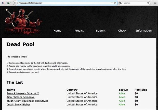Dead Pool, un sitio de la Deep Web que incentiva el asesinato mediante crowdsourcing