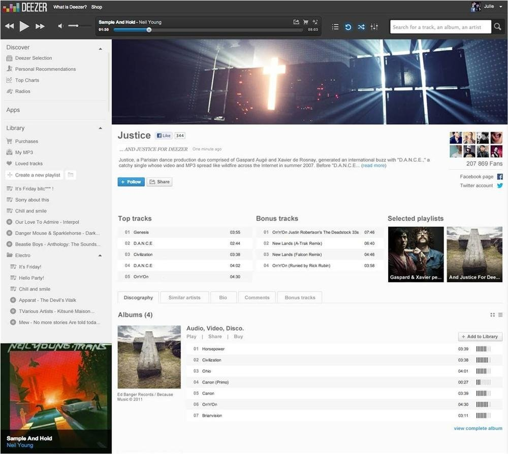 Deezer 4 Artists
