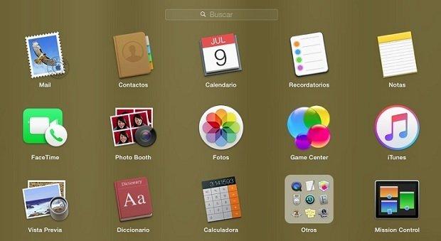 Dejaremos nuestro Launchpad como si acabáramos de instalar OS X