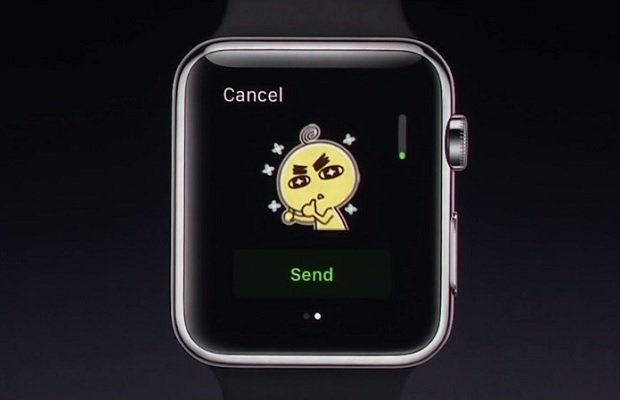 Demostración de WeChat en el Apple Watch