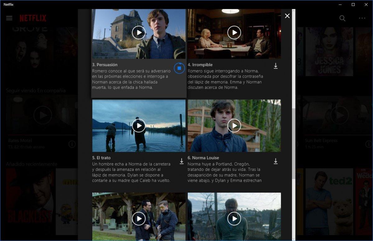 Descarga de contenido en local de Netflix en Windows 10