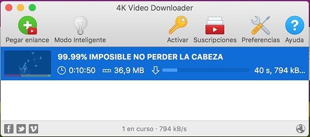 Descarga de vídeo 4K Video Downloader