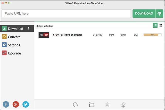 Descarga de vídeo Xilisoft Download YouTube Video