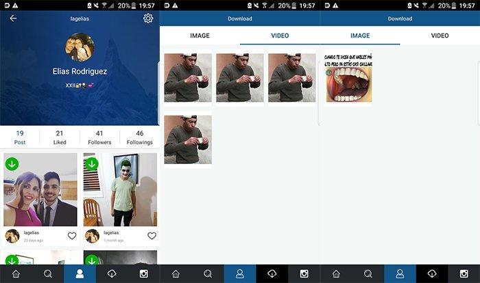 Descarga de vídeos e imágenes con Instagrab para Android