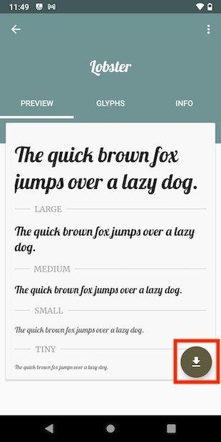 Descargar tipografía